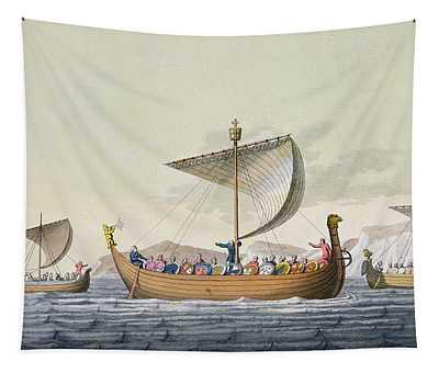 The Fleet Of William The Conqueror Tapestry