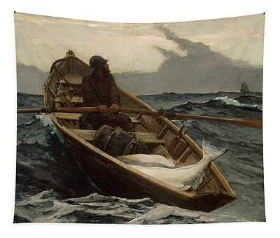 The Fog Warning .halibut Fishing Tapestry