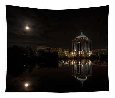 The Full Moon Over The Dudley Tower Tapestry
