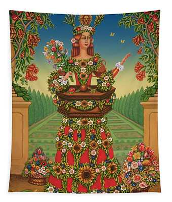 The Gardeners Wife, 2005 Oil & Tempera On Panel Tapestry
