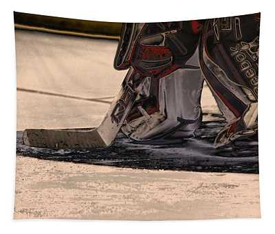 The Goalies Crease Tapestry