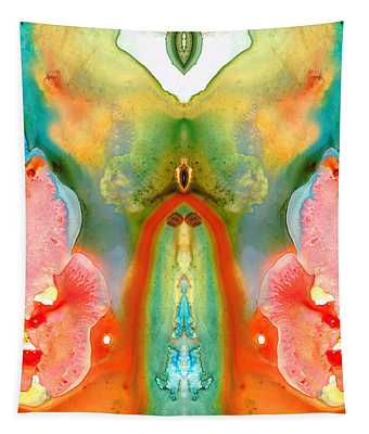 The Goddess - Abstract Art By Sharon Cummings Tapestry