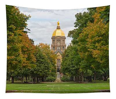 The Golden Dome Of Notre Dame Tapestry