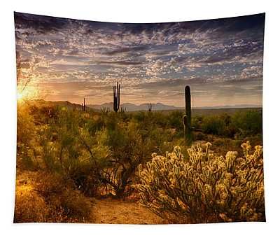 The Golden Southwest  Tapestry