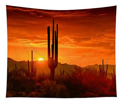 The Golden Southwest Skies  Tapestry