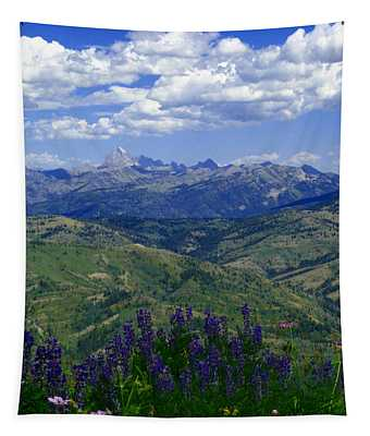 The Grand And Lupines Tapestry
