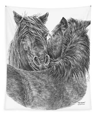 The Groom - Chincoteague Pony Print Tapestry