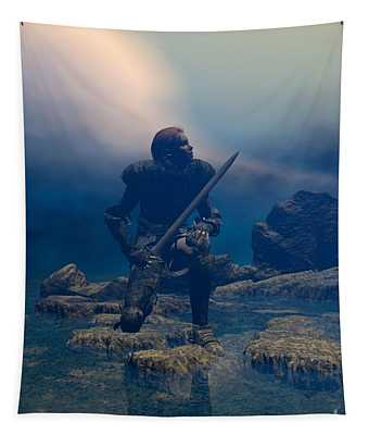 The Hand Of God On Your Head Tapestry