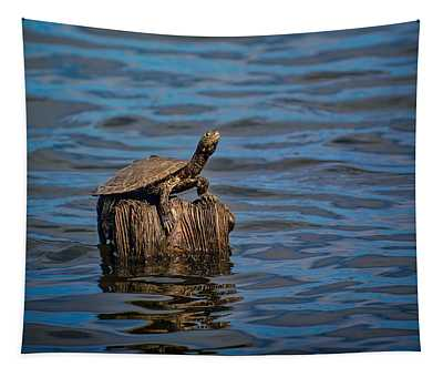 The Happiest Turtle Tapestry