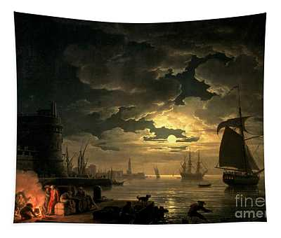 The Harbor Of Palermo Tapestry