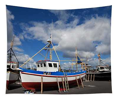 The Harbour And Fishing Boats, Passage Tapestry