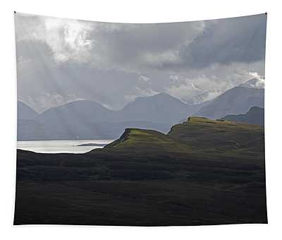 View From The Old Man Of Storr, Uk Tapestry
