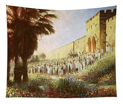 The King Is Coming  Jerusalem Tapestry