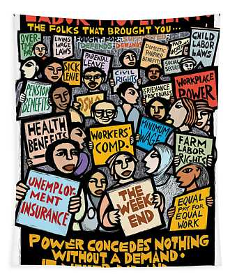 The Labor Movement Tapestry by Ricardo Levins Morales