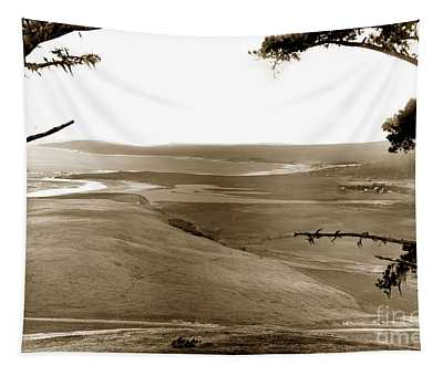 The Lagoon At The Mouth Of The Carmel River  From Fish Ranch California 1905 Tapestry