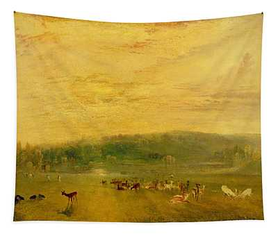 The Lake, Petworth Sunset, Fighting Bucks, C.1829 Tapestry