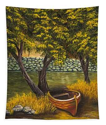 The Little Red Boat Tapestry