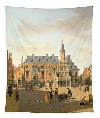 The Market Place With The Raadhuis, Haarlem, 17th Century Tapestry