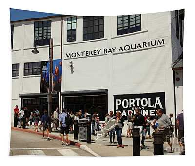 The Monterey Bay Aquarium On Monterey Cannery Row California 5d25015 Tapestry