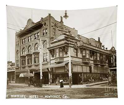 The Monterey Hotel 1904 The Goldstine Block Building 1906 Photo  Tapestry