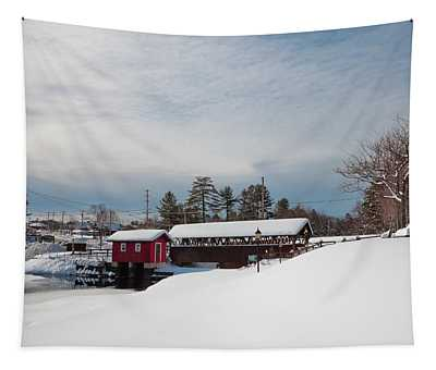 The Old Forge Covered Bridge Tapestry