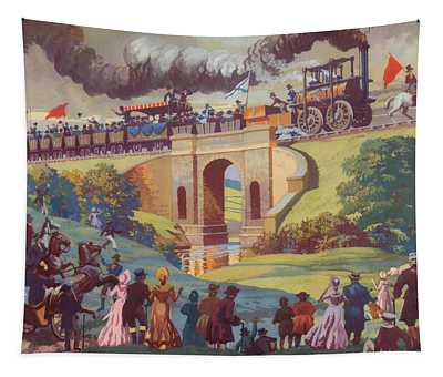 The Opening Of The Stockton And Darlington Railway Macmillan Poster Tapestry