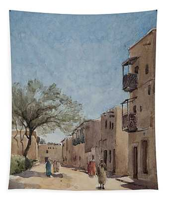 The Ouled Nail Quarter, Biskra, April 1889  Tapestry