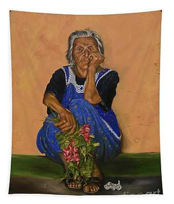The Parga Flower Seller Tapestry