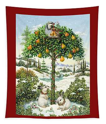 The Partridge In A Pear Tree Tapestry