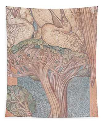 The Pelican, Cartoon For Stained Glass For The William Morris Company, 1880 Coloured Chalk On Paper Tapestry