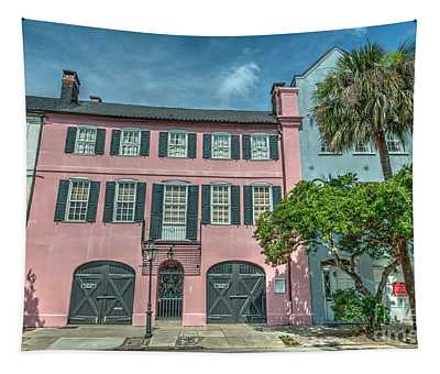 The Pink House Tapestry