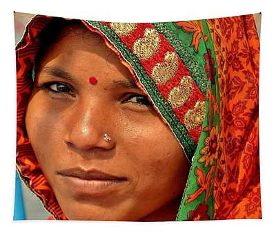 The Pride Of Indian Womenhood Tapestry