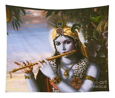 The Primordial Flute Player Tapestry