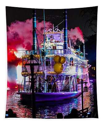 The Mark Twain Disneyland Steamboat  Tapestry