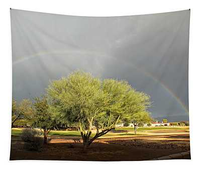 The Rain And The Rainbow Tapestry