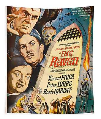The Raven Vintage Movie Poster Tapestry