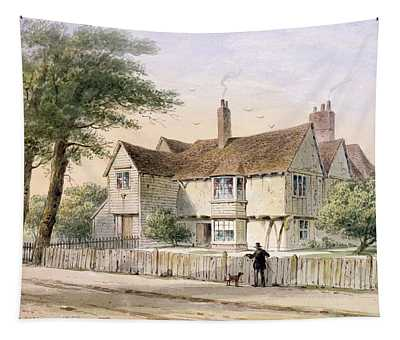 The Rectorial House, Newington Butts, 1852 Wc On Paper Tapestry