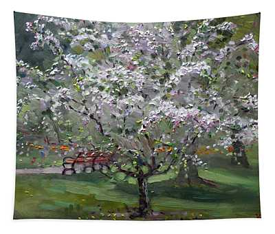 The Red Bench Tapestry