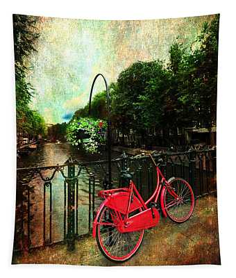 The Red Bicycle Tapestry