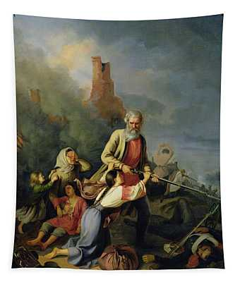 The Russians In 1812, 1855 Oil On Canvas Tapestry