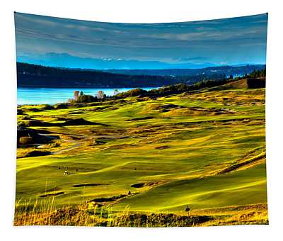 The Scenic Chambers Bay Golf Course - Location Of The 2015 U.s. Open Tournament Tapestry