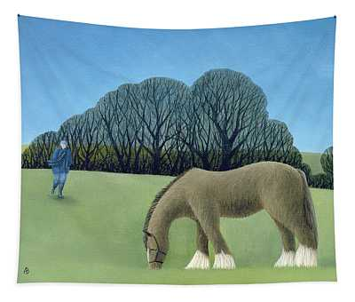 The Shire Horse, 2006 Oil On Canvas Tapestry