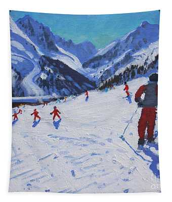 The Ski Instructor Tapestry