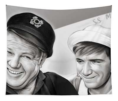 The Skipper And Gilligan Tapestry