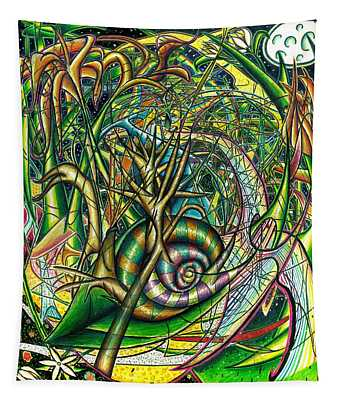 Tapestry featuring the painting The Snail by Shawn Dall
