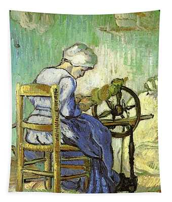The Spinner - After Millet Tapestry