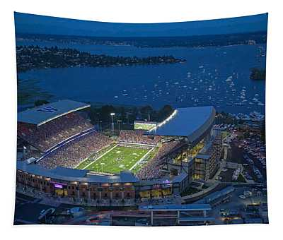 Husky Stadium And The Lake Tapestry