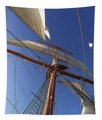 The Star Of India. Mast And Sails Tapestry