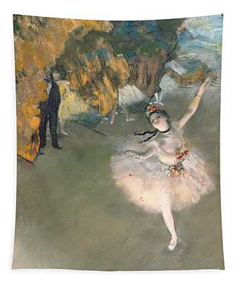 The Star Or Dancer On The Stage Tapestry