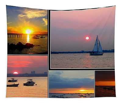 The Sunsets Of Long Island Tapestry